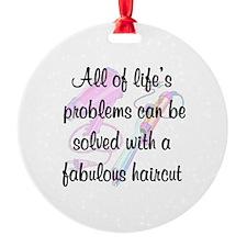 HAIR STYLIST Round Ornament