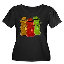 Gummi Be Women's Plus Size Dark Scoop Neck T-Shirt