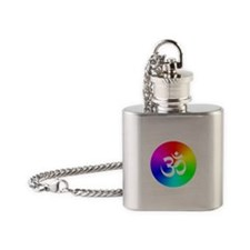 Om On Rainbow Flask Necklace