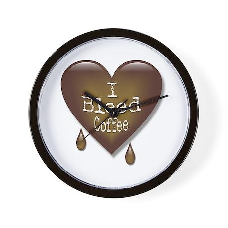 I Bleed Coffee Heart Wall Clock