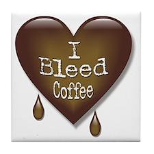 I Bleed Coffee Heart Tile Coaster