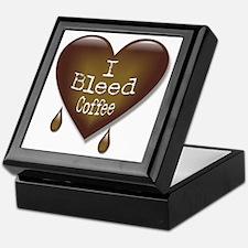 I Bleed Coffee Heart Keepsake Box