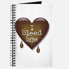 I Bleed Coffee Heart Journal