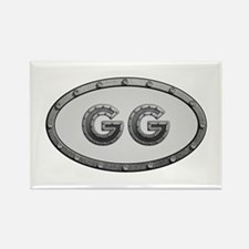GG Metal Rectangle Magnet 10 Pack