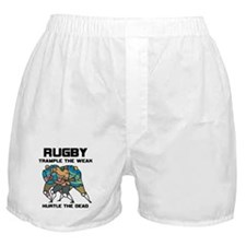 Trample The Weak Rugby Boxer Shorts