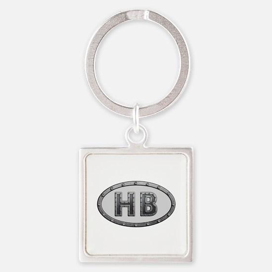 HB Metal Square Keychain