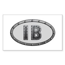 IB Metal Rectangle Decal