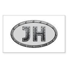 JH Metal Rectangle Decal