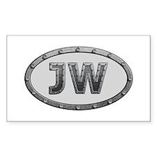 JW Metal Rectangle Decal