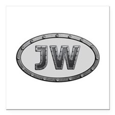 JW Metal Square Car Magnet