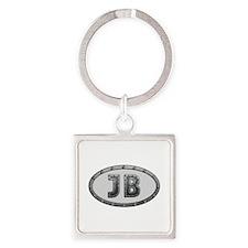 JB Metal Square Keychain