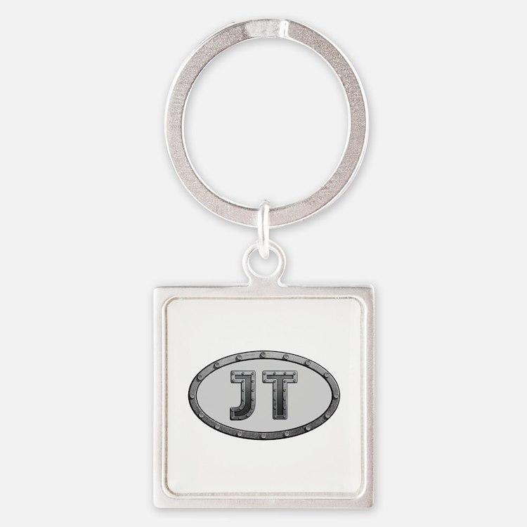 JT Metal Square Keychain