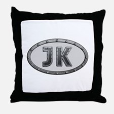 JK Metal Throw Pillow