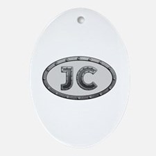 JC Metal Oval Ornament