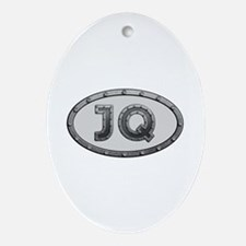 JQ Metal Oval Ornament