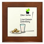 Dear Santa Framed Tile