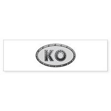 KO Metal Bumper Sticker 50 Pack