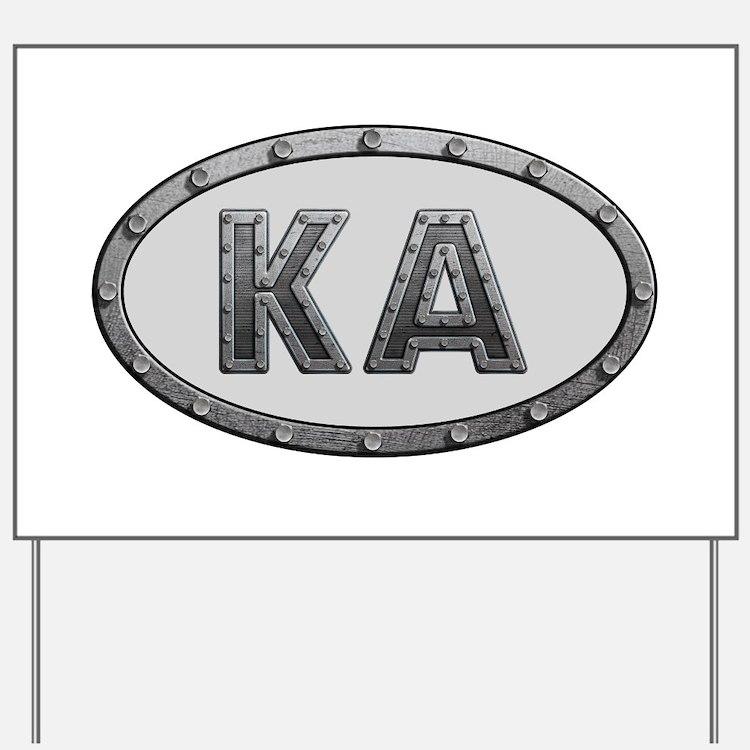KA Metal Yard Sign