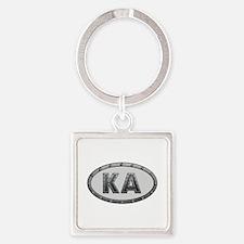 KA Metal Square Keychain