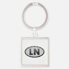 LN Metal Square Keychain