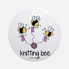 Knitting Bee Ornament (Round)