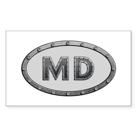 MD Metal Rectangle Sticker