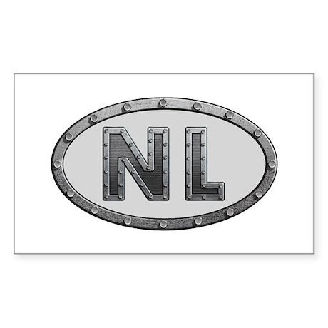 NL Metal Rectangle Sticker