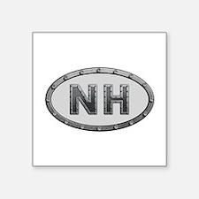NH Metal Square Sticker