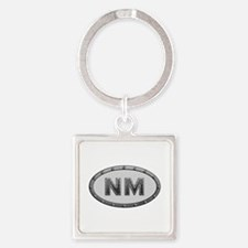NM Metal Square Keychain