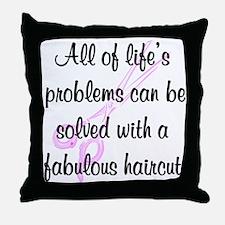 TOP HAIR STYLIST Throw Pillow