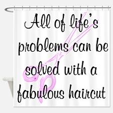 TOP HAIR STYLIST Shower Curtain
