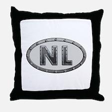 NL Metal Throw Pillow