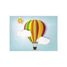 Hot Air Balloon 5'x7'Area Rug