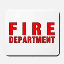 Fire Department Red Mousepad