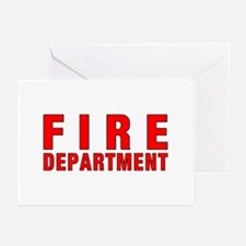 Fire Department Red Greeting Cards (Pk of 10)