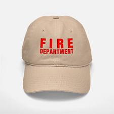 Fire Department Red Baseball Baseball Cap