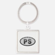 PS Metal Square Keychain