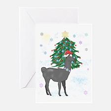 Santa Llama Christmas Cards