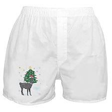 Santa Llama Boxer Shorts