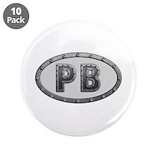 PB Metal Big Button 10 Pack