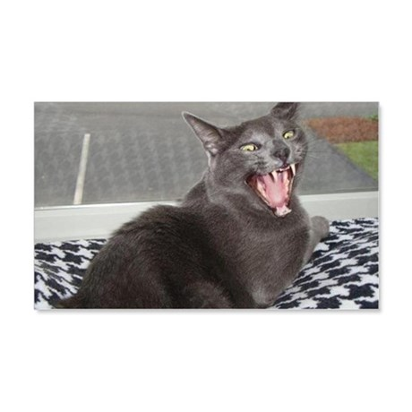 angry russian blue 20x12 Wall Decal
