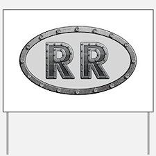 RR Metal Yard Sign