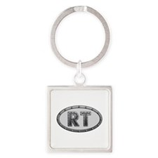 RT Metal Square Keychain