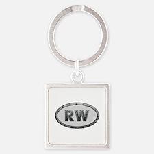 RW Metal Square Keychain