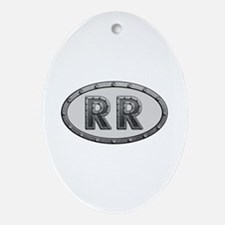 RR Metal Oval Ornament