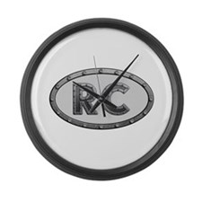 RC Metal Large Wall Clock