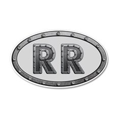 RR Metal Wall Decal