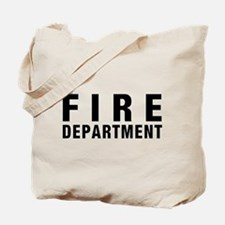 Fire Dept Black Tote Bag