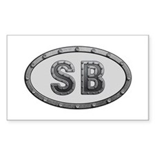 SB Metal Rectangle Decal