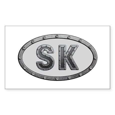 SK Metal Rectangle Sticker